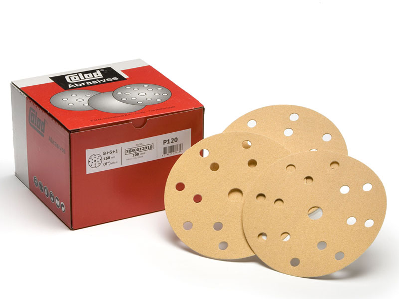 3680xxxx Colad Velcro Discs 8+6+1 Holes 150mm Colad Velcro Discs  8+6+1 Holes (150mm)
