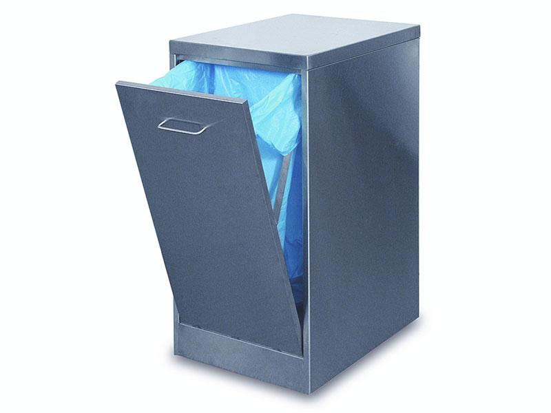 000469 Hamach Stainless Waste Bin 250L Hamach Stainless Waste Bin – 250L
