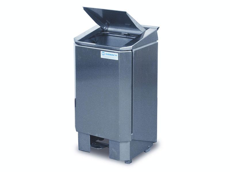 000470 Hamach Stainless Waste Bin 60L Hamach Stainless Waste Bin – 60L