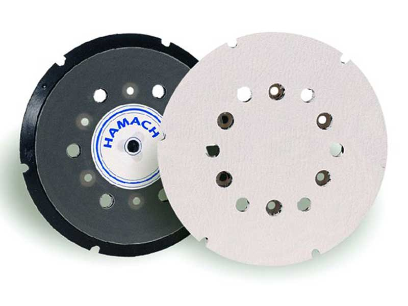 009996 Hamach Sanding Pads 150mm Hamach Sanding Pads – 150mm – Adhesive – 6 Holes – 6 Screw – without Spindle