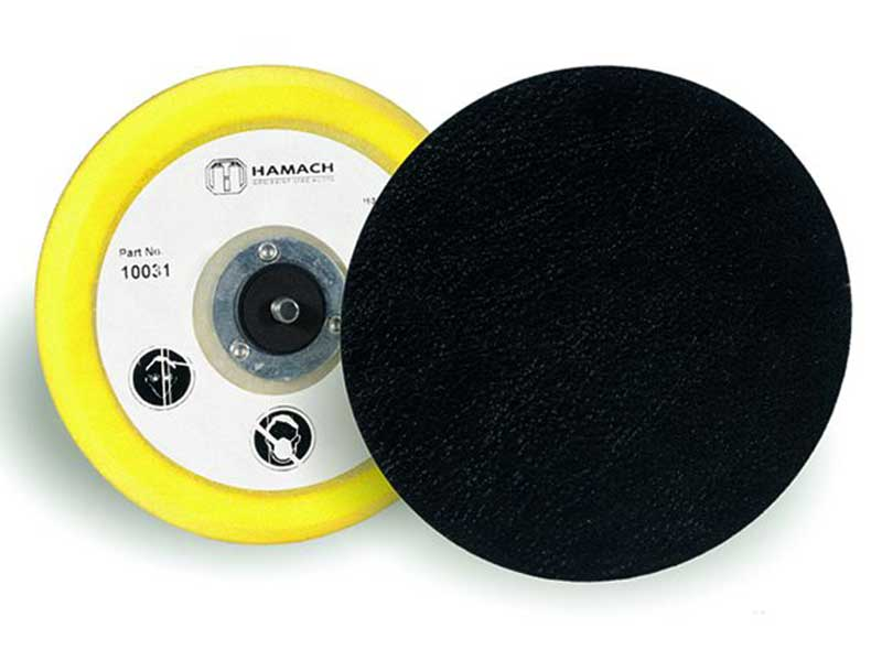 010031 Hamach Sanding Pads 150mm Hamach Sanding Pads – 150mm – Adhesive – Soft – 5/16 Spindle
