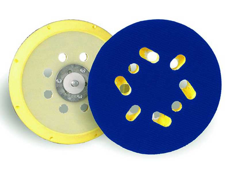 010035 Hamach Sanding Pads 150mm Hamach Sanding Pads – 150mm – Adhesive – 6 Holes – Soft – 5/16 Spindle