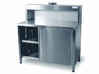 thumbs 000463 000465 Hamach RVS Stainless Steel Mixing Table HT120 Stainless Steel Table & Container