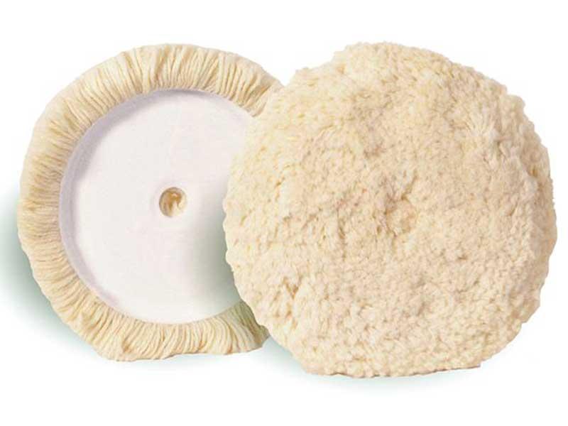 010025 Hamach Wool Pads Hamach Wool Pads – 200mm – Tackup (Velcro) – Polishing Sheep Skin