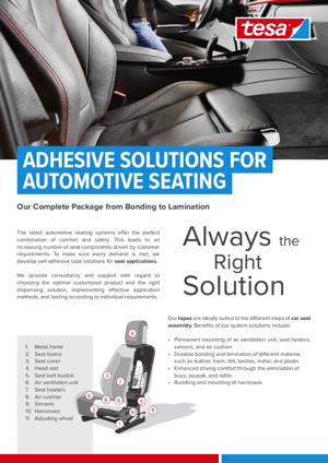 tesa for Automotive Seating Tesa Masking Solutions